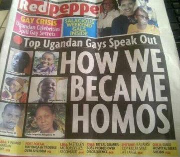 Uganda's Red Pepper tabloid. (Photo courtesy of Veooz.com)