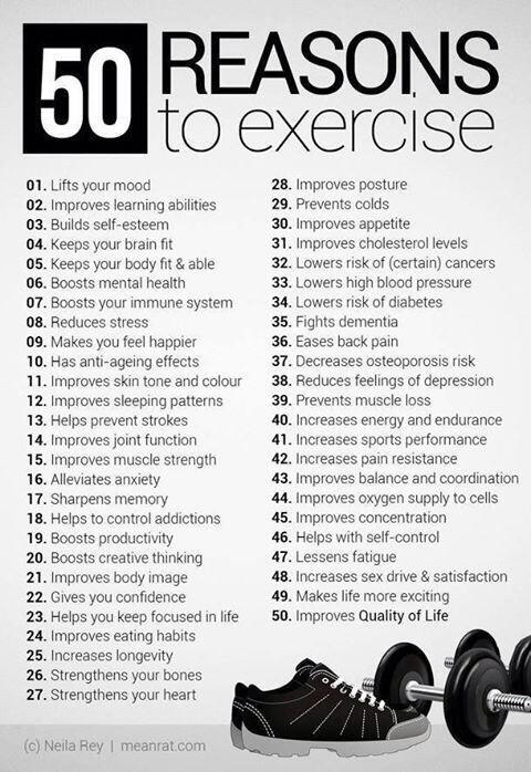 50 Reasons to Exercise Right Now!