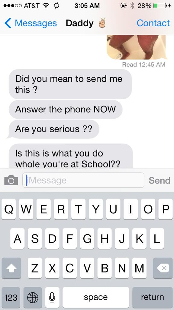 College Girl Accidentally sent nude Selfie to her DAD but never Expected this reaction