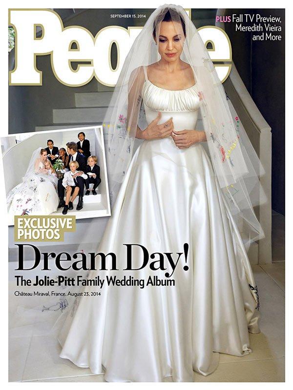 Brad Pitt and Angelina Jolie's first 'secret' wedding Photos revealed