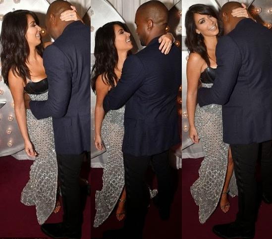 Kim and Kanye loved up at GQ Awards   see Kim's revealing gownkokomansion.com   kokomansion.com