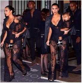 KIM KARDASHIAN dresses just like KIM KARDASHIAN... Provocatively while carrying baby Nori