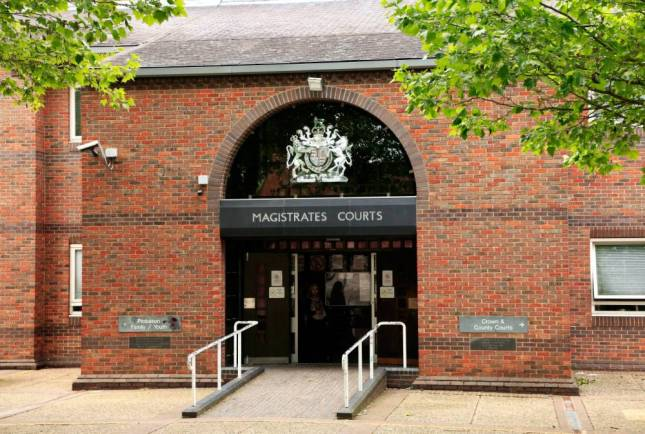 E193Y1 Norwich Magistrates Courts, entrance magistrate law court, Norfolk England UK English courts