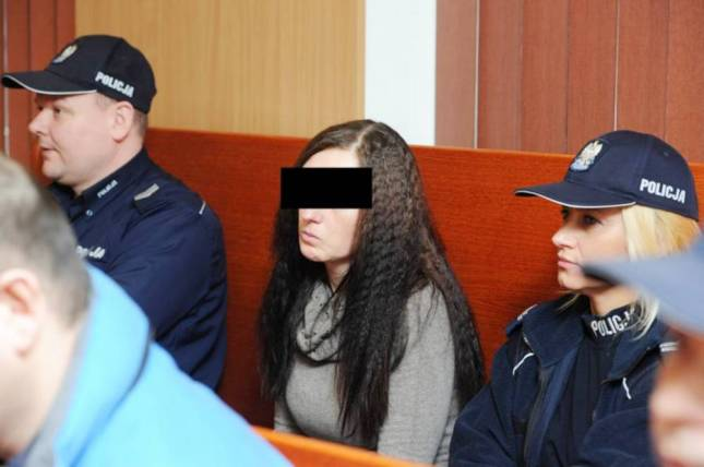 Pic shows: Woman Joanna Grabowski who had a threesome with her two lovers to reward them after they murdered her husband has been sentenced to life in jail. A woman who had a threesome with her two lovers to reward them after they murdered her husband has been sentenced to life in jail. Despite the fact he could not walk properly, disabled Piotr Grabowski, 31, was a well-known and popular man in the city of Olsztyn in north-eastern Poland who did a lot for charity. He was an active member of the Catholic aid charity Caritas and it was there that he met his wife-to-be Joanna, 30, who was getting financial assistance from the charity to help her with her five children. The couple had started dating and eventually married, and he had been an enthusiastic stepfather for her five children but when she told him that she had found a lover and wanted to bring him back to the family home, he refused. As a result she arranged for her lover Jacek Pawlak, 42, and his friend Lukasz Kaminski, 31, to kill her husband when he went to get some fresh air in a local park. The court heard that she had called them on her mobile phone and told them he was coming, allowing them to hide in the bushes in advance. And as he passed by they had dragged him from the wheelchair and strangled him with a trouser belt. Joanna then rewarded them afterwards by inviting them back to the house for sex while her dead husband's body was left lying in the park. He was later found by other park visitors who noticed the abandoned wheelchair and then found the body. Police who were suspicious when interviewing the woman about her husband's death managed to unravel the complicated love triangle by looking at telephone records, and after questioning all three eventually attracted a confession that resulted in the court case. And now the woman has been jailed for 25 years for the murder of her husband. Sentencing of the lovers was delayed pending reports. The woman's five children have all been taken into care.