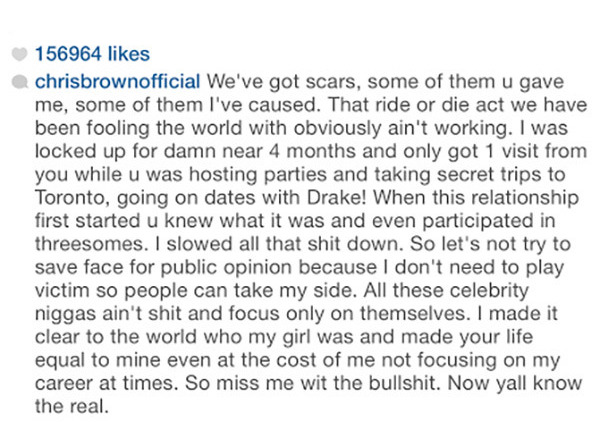 Chris Brown Breaks up with Karrueche after Accusing her of Cheating With Drake!!