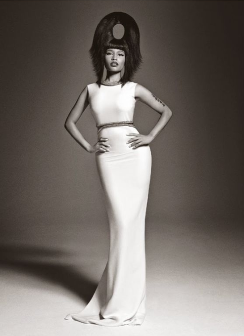 Nicki Minaj covers December issue of Vogue Italia