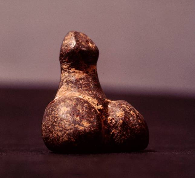 A sculpture of the male sex organ, Magical power was thought to reside in the male and female sex organs and to represent them in images was to invoke their beneficial power to create abundance and to ward off evil and ill luck. Ancient Anatolian. Neolithic c 6th millenium BC. Anatolia, Turkey. (Photo by Werner Forman/Universal Images Group/Getty Images)
