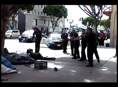LAPD Shoots Homeless Man 2