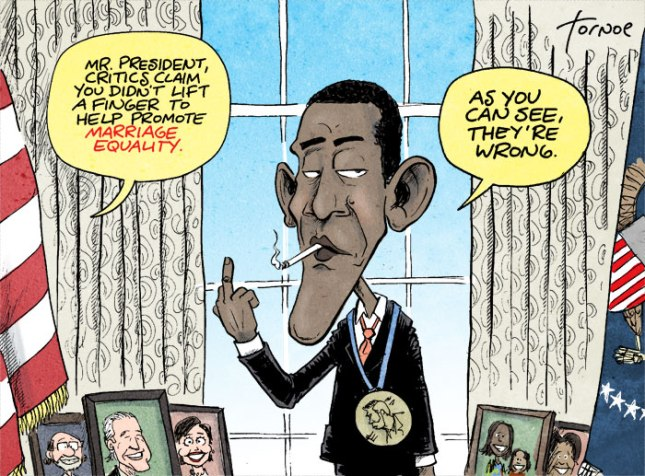 obama gay marriage cartoon
