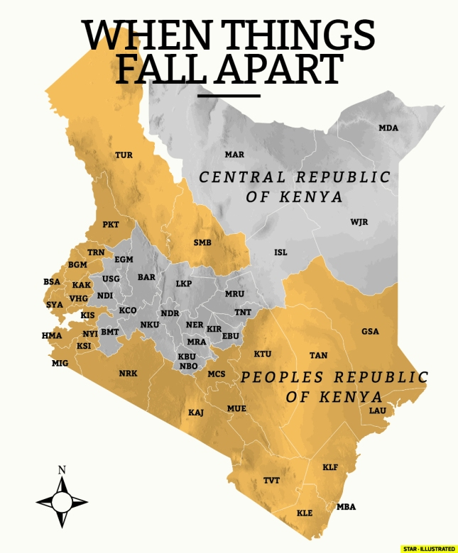 New Kenya as per the proposed petition to split Kenya into 2 Countries